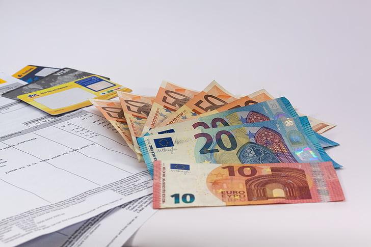 rahaa, Euro, valuutta, Euroopan, dollarin setelin, rahoitusalan, rahoitus