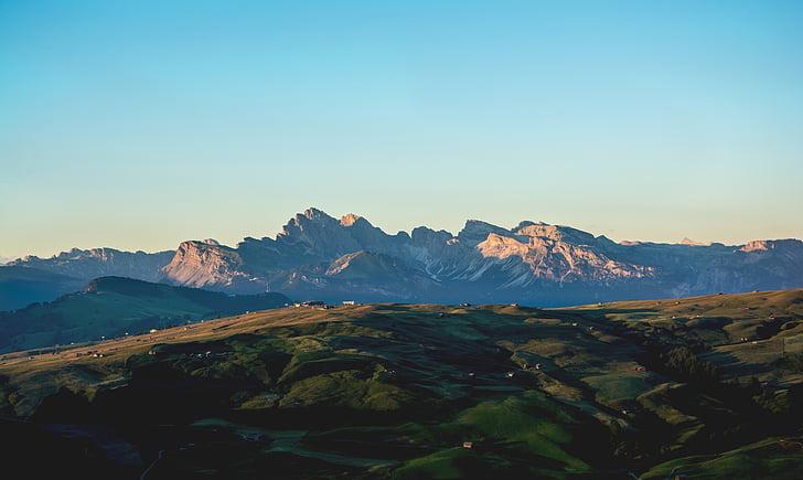 colina, paisagem, montanha, natureza, ao ar livre, cênica, céu