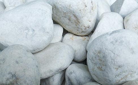 pedres, jardí, blanc, Parc, decoració del jardí, pedres màgic