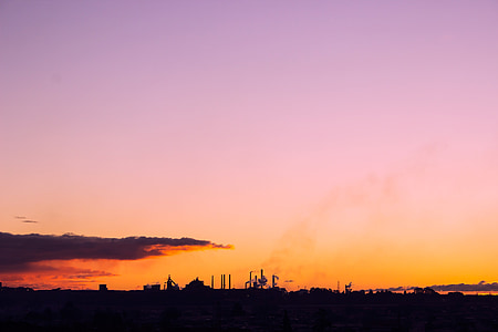 Sky, siluett, solnedgång, naturen, solnedgång sky, himmel bakgrund, skymning
