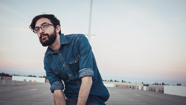man, male, looking, person, caucasian, beard, bearded