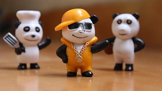 friendship, panda, happy, character, cheerful, happiness, cute