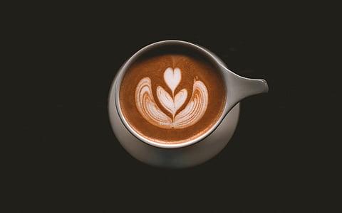 kopi, latte, seni, buih, cappuccino, minuman, espresso