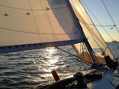 segel, segelbåt, Bodensjön, segling, segelbåt, havet, nautiska fartyg