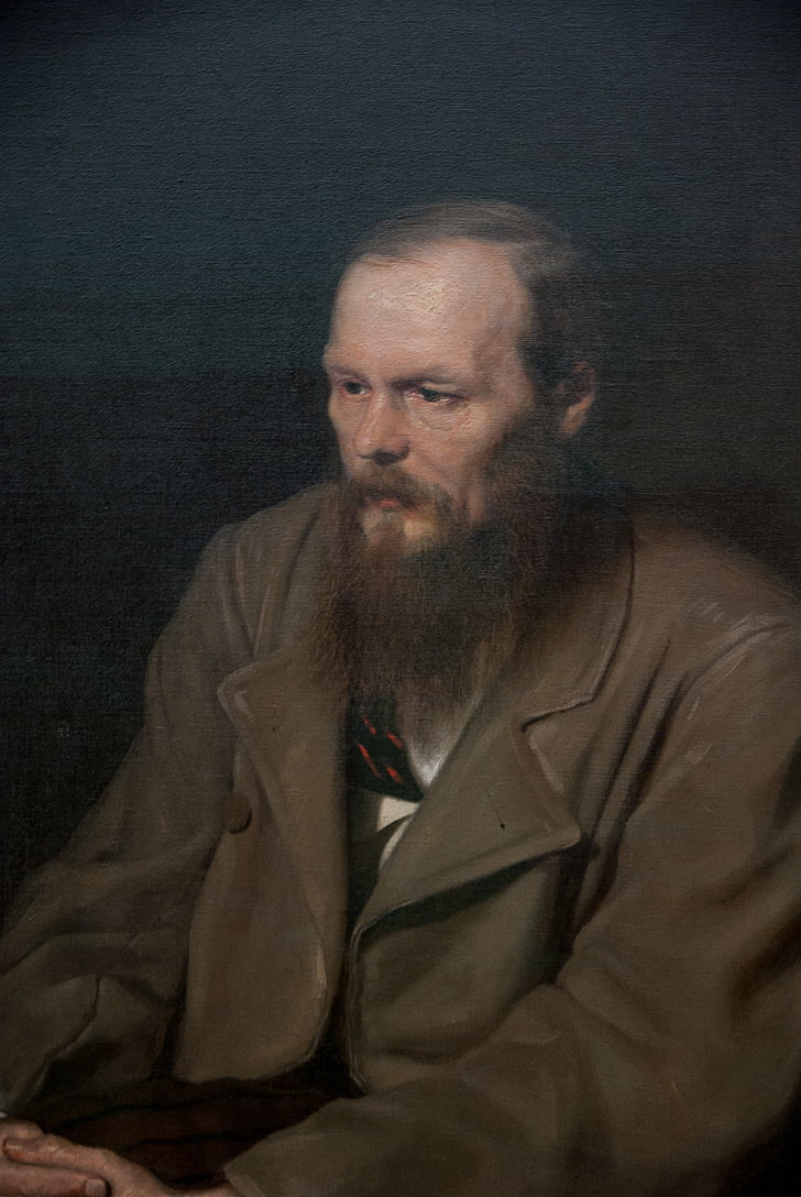 moscow, dostoyevsky, painting, portrait, one person, one man only, looking at camera