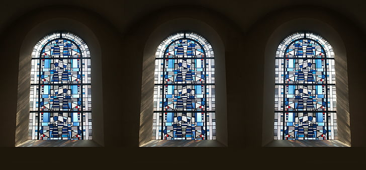 Vitrall, vidre de color, art en vidre, vidre de color, finestra de l'església, l'església, finestra