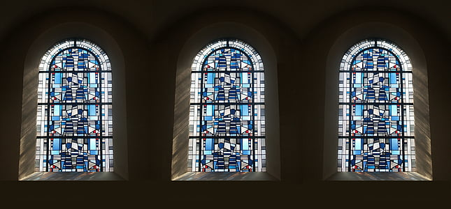 logu vitrāžas, krāsains stikls, stikla mākslas, krāsu stiklojums, baznīcas logu, baznīca, logs