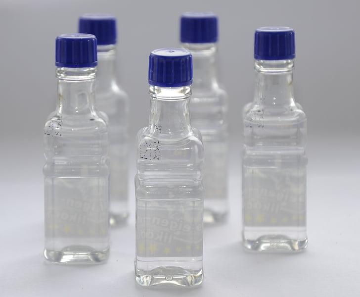 ampolles, l'alcohol, Tara, beguda, ampolla, blau, transparents
