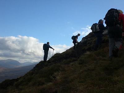 mountain, climbing, hiking, climber, climb, rock, sport