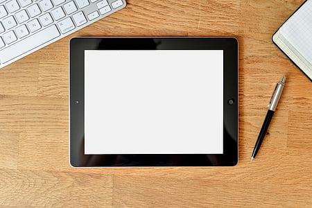 comprimit, ordinador, bloc de notes, tecnologia, negoci, Internet, Tacte