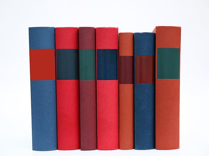 boken stack, böcker, färgglada, färgglada, utbildning, kunskap, etikett