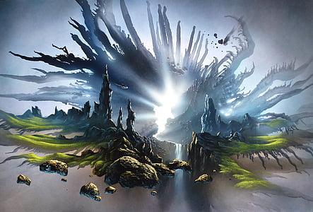 fantasy, painting, light, art, image, artwork, landscape