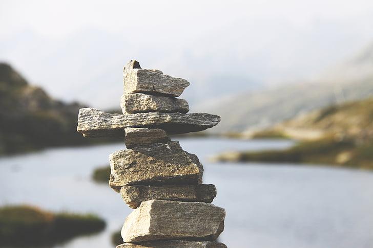Balance, pierres