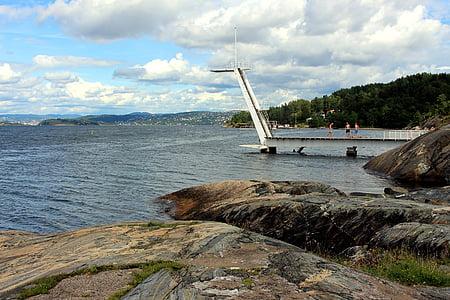 Oslo, Norge, Oslofjorden, staden, sommar, Scandinavia, resor