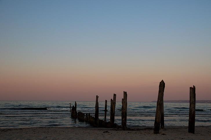 Βαλτική θάλασσα, ηλιοβασίλεμα, abendstimmung, Λυκόφως, σούρουπο