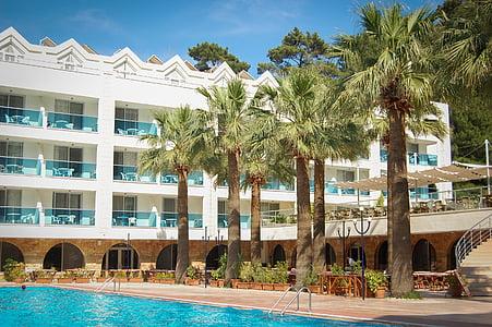 ferie, helligdager, Hotel, fritid, luksus, moderne, utendørs