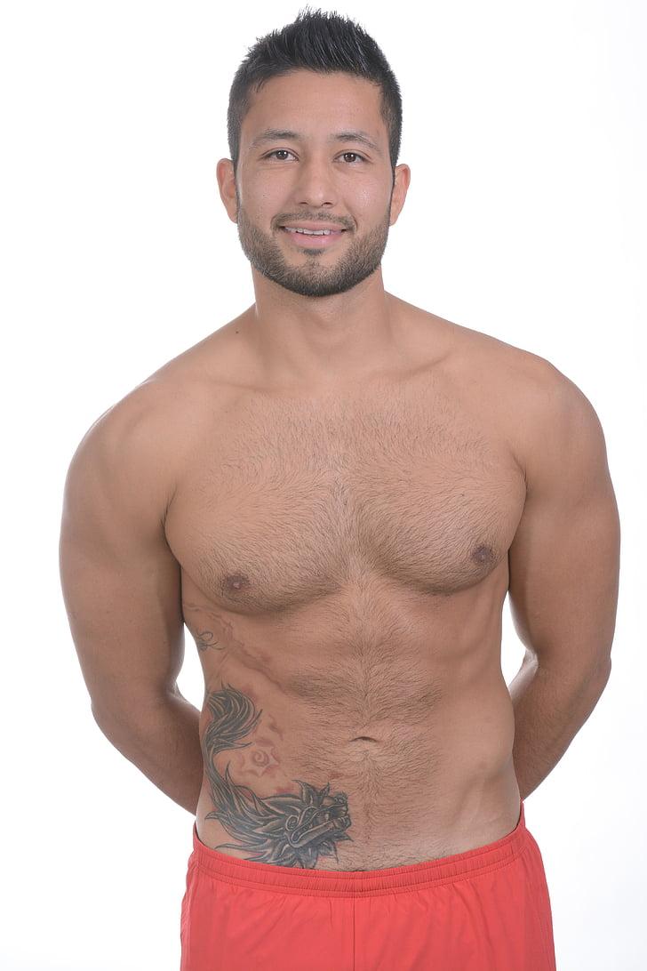esport, gimnàs, exercici, Pilates, home de cara, home de cos, cos