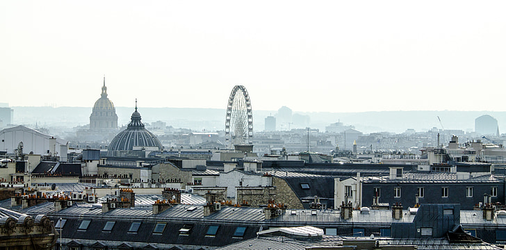 París, Òpera, Turisme, cobertes, França, núvols, antic edifici