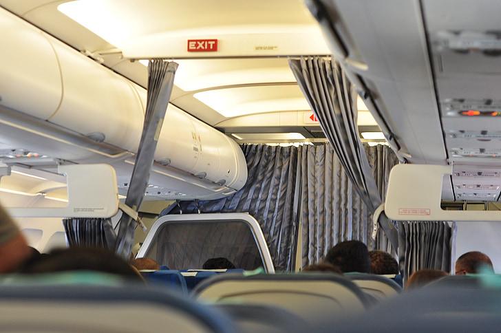 lennureis, reisijate, lennufirma, õhusõiduki, Turism, Travel, istmed
