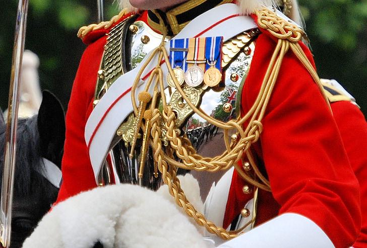 soldat, llar, Cavalleria, muntat, placa de pit, reflexió, Anglaterra
