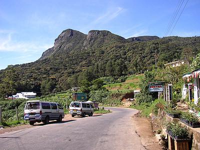 Srí lanka, Highlands, Mountain, cestné