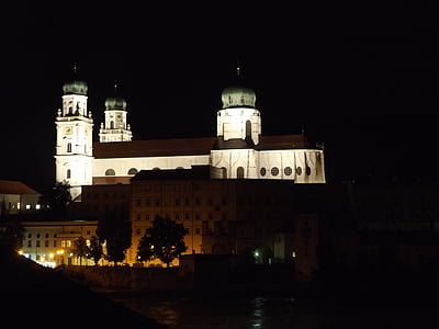pasau, Dom, bažnyčia, Episcopal pamatyti, Sankt stephan, baroko, Sankt stephan katedros