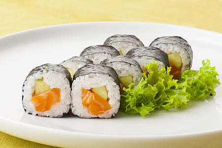 sushi, aliments, Japó, àpat, marisc, placa, sopar