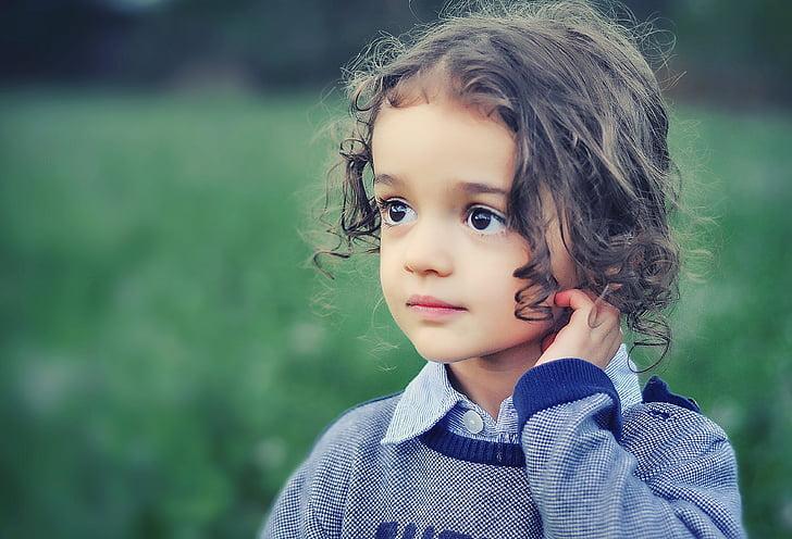 lapsi, malli, Tyttö, Kauneus, muotokuva, muoti, vähän