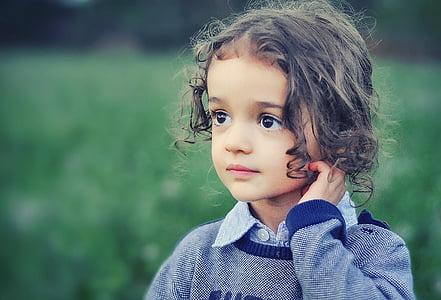 дете, модел, Момиче, красота, Портрет, мода, малко