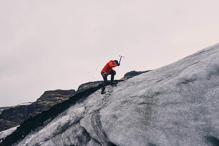 산악 등반, 산악인, 산, 어드벤쳐, 등반, 활성, 남자