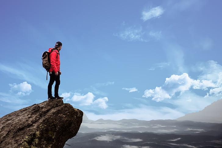 산, 하이킹, 어드벤쳐, 조 경, 자연, 여행, 스포츠