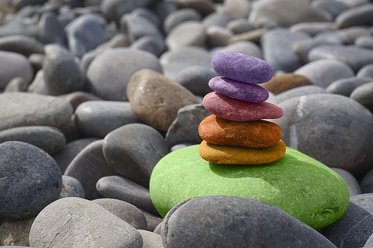 zostatok, kamene, Meditácia, Zen, kamennú záhradu, more, o