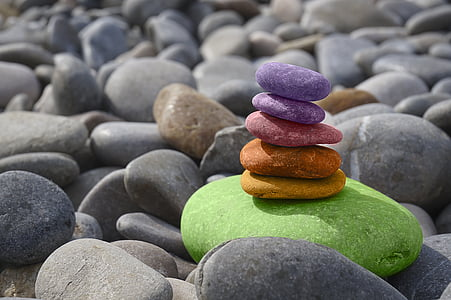 balans, stenar, Meditation, Zen, sten trädgård, havet, om