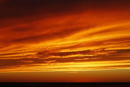 taevas, Sunset, punane, pilve, Sunset valgus, Punane päike, õhtupäike