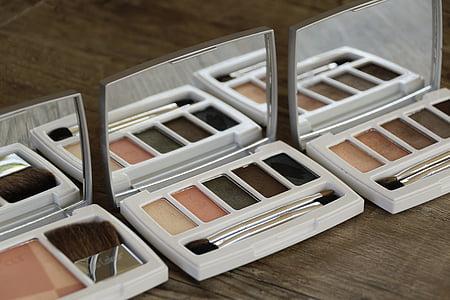 化妆品, 弥补, 化妆, 美, 颜色, 眼影, 粉