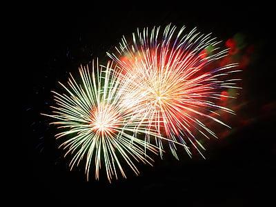 fireworks, pyrotechnics, fireworks art, event, shower of sparks, celebration, exploding
