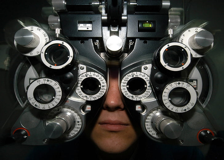 ulleres, examen, Optometria, visió, vista, mèdica, salut