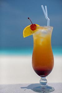 còctel, tropical, begudes, beguda, l'huracà, d'alçada, vidre