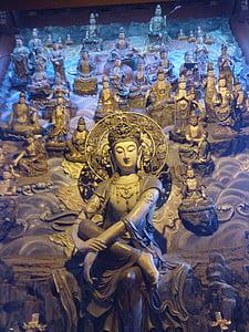 Buddha, Ķīna, Budisms, reliģija, Āzija, statuja, Ķīniešu
