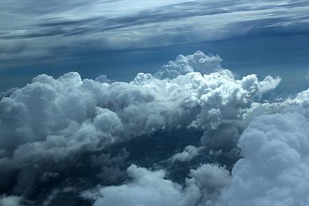雲, 空の上の雲, 曇り空, 青い空, 自然, 空, 曇り