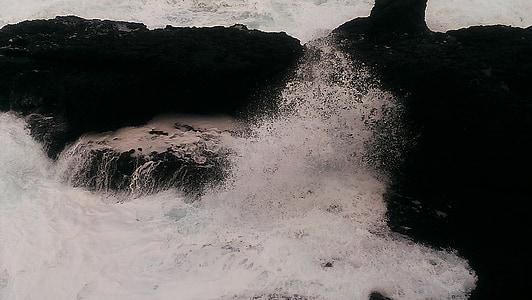 jūra, neapdorotų jūrų, balta Kuoduotasis bangos, Japonijos jūra, žiemą, balta, sepija