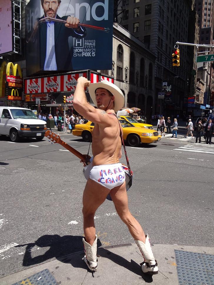 Times square, Nova york, vaquer nua