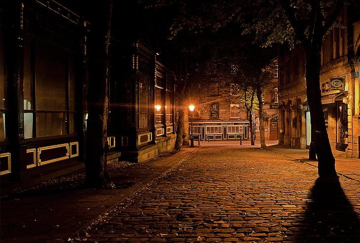 dormint, ciutat, son, nit, nit, fosc, arquitectura