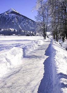 winter, wintry, snow, mountains, winter magic, trees, snow lane