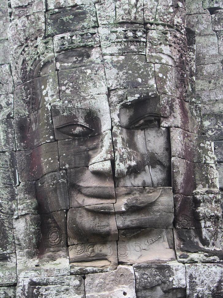 Statue, Angkor wat, Angkor, Tempel, Wat, Kambodscha, Antike