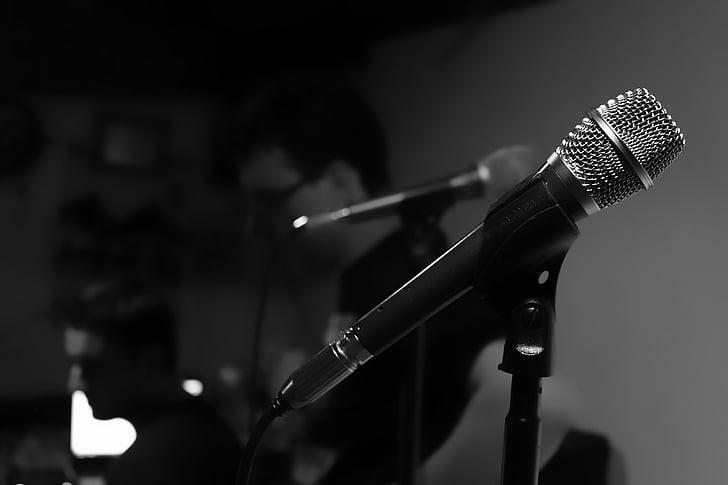 микрофон, Студия звукозаписи, музыка, пение, Искусство, этап - производительность пространства, производительность