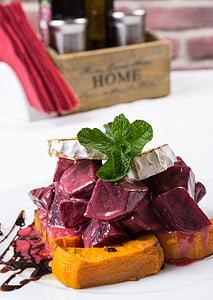 Gourmet salat, Kõrvitsa salat, juustu, küpsetatud juust, jahu, toidu, Gourmet