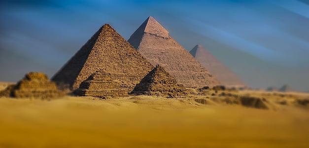 Gizeh, Piràmide, piràmides de Gizeh, Egipte, monuments, piràmides d'Egipte, desert