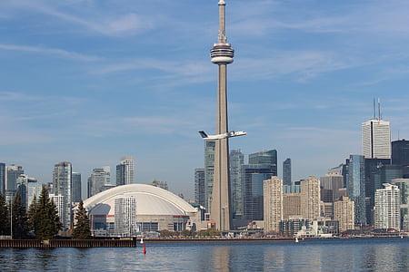 Toronto, Skyline, CN tower, Kanada, Ontario, Urban skyline, arkitektur