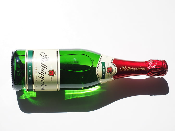 pullo kuohuviiniä, Champagne, alkoholin, pullo, rotkäppchen